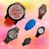 El plástico del OEM de la fábrica posee el reloj del silicón del regalo de la marca de fábrica (BZSW065)