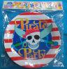 Placa de papel del partido del pirata