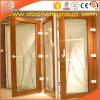 Дверь верхнего качества Toughened стеклянная алюминиевая Bifold двойная застекленная для балкона
