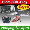 l'hélicoptère de 19cm 3CH RC avec le gyroscope, structure d'alliage, lampes-torches, libèrent le rotor de queue disponible (LX6010)