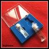 Cubeta de encargo clara del vidrio de cuarzo con el tapón