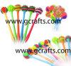 Penas de ponto de esfera coloridas de borracha Spiky engraçadas de borracha Spiky das penas de ponto de esfera do silicone