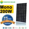 Покройте панель солнечных батарей ранга Monocrystalline 12V 200W Mono
