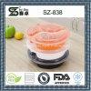 Recipiente de armazenagem de alimentos descartáveis com classificação de alimentos da Ronda 3