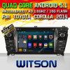 Carro DVD da versão do Android 5.1 de Witson para Toyota Corolla 2014 (W2-F9156T)