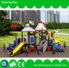 スライドが付いている子供のゲームの運動場装置の屋外の運動場