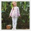 Rosafarbene Blumen-Muster-beiläufige Kind-Oberseiten, die Set kleiden