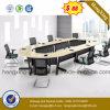 金属の足(HX-CF006)を搭載するメラミンオフィス用家具の会議の会合表