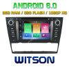 Véhicule DVD de l'androïde 6.0 de faisceau de Witson huit pour BMW E90