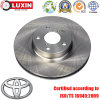 OEM substituiu o rotor de freio de disco automotivo para Toyota
