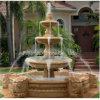 Hermosa fuente de mármol de piedra con piscina para el jardín