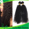 編む人間の毛髪の拡張モンゴルのねじれたカーリーヘアーのかつら