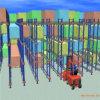 Systeem van het Rek van de Pendel van het Staal van de Opslag van het pakhuis het Automatische Radio