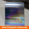 sellado caliente de la hoja del holograma de encargo del arco iris del laser 3D