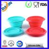 Bacia Foldable de venda quente do animal de estimação do silicone por atacado