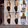Dessus de bidon de Skirt Vest sexy de femmes de Madame Sleeveless Pleated (T25558)