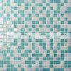 Melt смешивания 15X15mm плитка мозаики зеленого горячего стеклянная (BGC011)