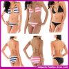 O nylon do estilo do tipo europeu/a Swimwear os mais atrasados copo do Spandex da senhora Biquini Mulher sexy moldada tela (D131)