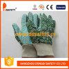 Перчатки сада женщин конструкции цветка с зелеными многоточиями на ладони Dgb206