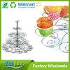 Soporte de visualización de la torta de la taza de la manera de 5 gradas con el alambre de acero