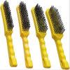 Resistente industrial de la maneta plástica del conjunto de cepillo de alambre de las herramientas