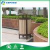 Compartimiento de madera al aire libre de los desperdicios del parque con el cenicero (FY-182G)