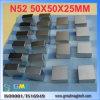 De Magneet van het Blok van het Neodymium van de zeldzame aarde F50X50X25mm