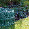 Rete fissa rivestita verde del giardino del bordo del PVC