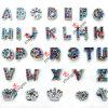 Цветастое Rhinestone Alphabet/Letter Slide Charms для ювелирных изделий DIY (SC-26)