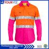 Diseño único de la funda de la seguridad de las camisas largas del trabajo (YWS116)