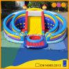 子供(AQ01167)のための球のプールの膨脹可能な屋外の運動場が付いている巨大な円の城のスライド