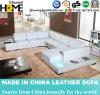 Sofá Home moderno novo do couro branco com luz do diodo emissor de luz (HC1010)