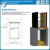 Encofrado del eje de elevador con diseño de la solución