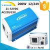 Sti200W-24V 21~32VDC 50Hz± 0.2% 태양 순수한 사인 파동 변환기 Sti200-24
