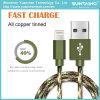 Nueva llegada de nylon trenzado de datos cable de carga para iPhone 5/6/7