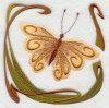 Butterfly003刺繍のバッジ(EMB140)