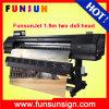 impressora solvente da bandeira de 1440dpi Funsunjet Fs-1802k 1.8m Eco com duas a máquina de impressão principal de Dx5 Digitas