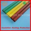 Tubo incombustible del encogimiento del calor de la barra de distribución del verde rojo/amarillo de la baja tensión