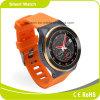 appareil-photo Smartwatch de GM/M WCDMA HD de carte SIM de fréquence cardiaque de Bluetooth de WiFi de SYSTÈME D'EXPLOITATION de l'androïde 5.1 du Quarte-Faisceau 3G