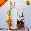 USB de cerámica Pendrive (YT-9103L) de la Salpicar-Tinta de encargo de la insignia