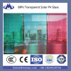 Модуль тонкой пленки BIPV солнечный стеклянный красный голубой желтый