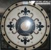 Natuurlijk Marmeren Waterjet van de Steen Medaillon voor de Zaal van het Hotel (MML006)