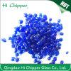 Granos de cristal claros sólidos irregulares coloreados