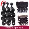 Frontal non trattato del merletto dell'onda del corpo della chiusura 13X4 dei capelli umani del Virgin
