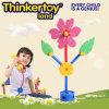 Brinquedo de bloqueio da mini flor plástica para miúdos