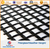 Glasfaser Geogrid des Fiberglas-100X100kn beschichtete mit Asphalt-Bitumen SBR