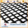 les fibres de verre Geogrid de la fibre de verre 100X100kn ont enduit du bitume SBR d'asphalte