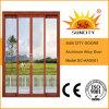 Garnitures en verre en aluminium de porte coulissante