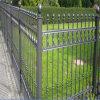 Garten-Sicherheits-graues Puder, das dekorativen bearbeitetes Eisen-Zaun beschichtet