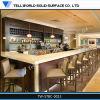 L 모양 상업적인 백색 대리석 대중음식점 출납원 테이블